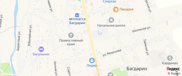 Улица Ленина на карте села Багдарина с номерами домов
