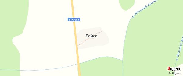 Придорожная улица на карте поселка Байсы с номерами домов
