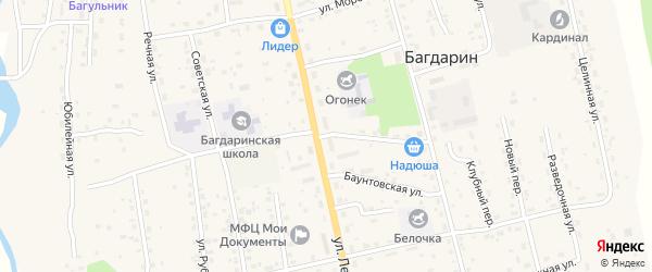 Геологическая улица на карте села Багдарина с номерами домов