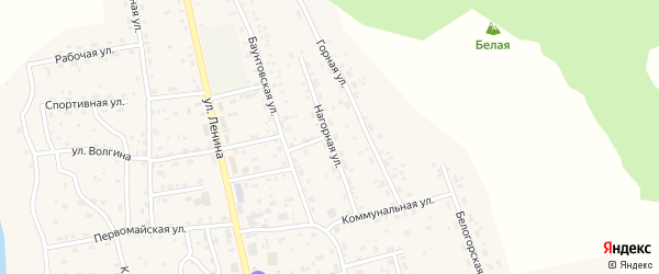 Нагорная улица на карте села Багдарина с номерами домов