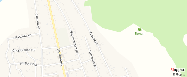 Горная улица на карте села Багдарина с номерами домов