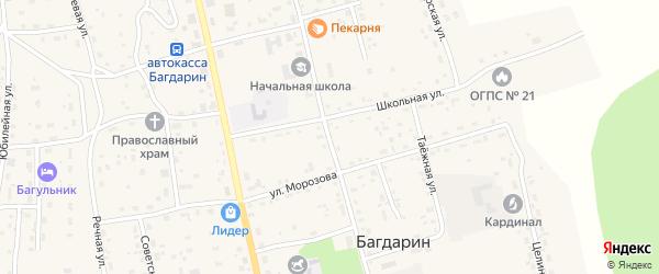 Баунтовская улица на карте села Багдарина с номерами домов