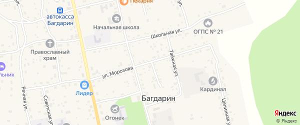 Улица Морозова на карте села Багдарина с номерами домов