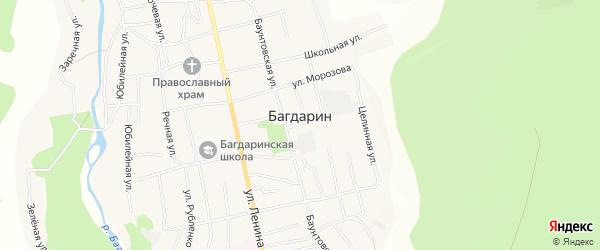 Карта села Багдарина в Бурятии с улицами и номерами домов