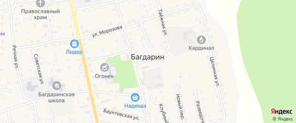 Парковый переулок на карте села Багдарина с номерами домов