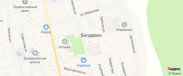 Пушная улица на карте села Багдарина с номерами домов