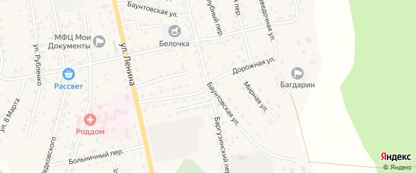 Дорожная улица на карте села Багдарина с номерами домов