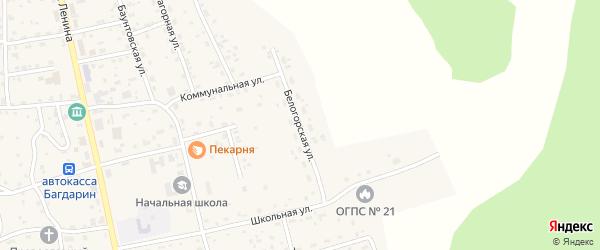 Белогорская улица на карте села Багдарина с номерами домов