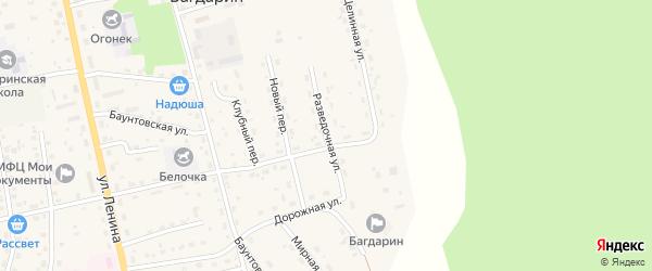 Разведочная улица на карте села Багдарина с номерами домов