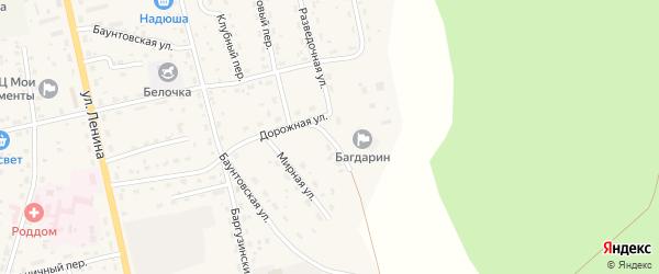 Восточная улица на карте села Багдарина с номерами домов