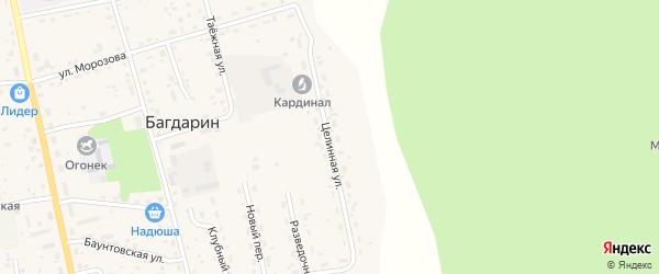 Целинная улица на карте села Багдарина с номерами домов