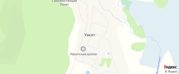 Карта поселка Уакита в Бурятии с улицами и номерами домов
