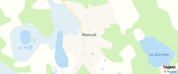 Карта Монгоя поселка в Бурятии с улицами и номерами домов