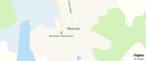 Таежная улица на карте Монгоя поселка с номерами домов