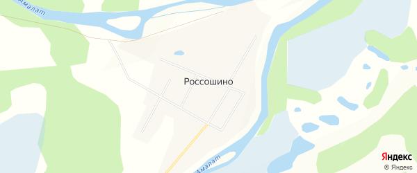 Карта поселка Россошино в Бурятии с улицами и номерами домов