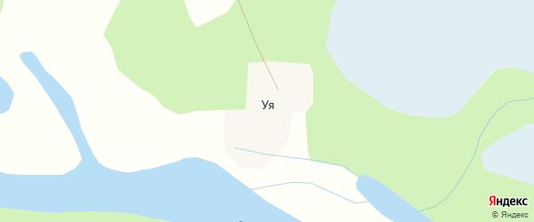 Таежная улица на карте поселка Уя с номерами домов