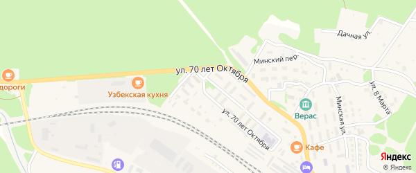 Улица Даугава на карте поселка Таксимо с номерами домов