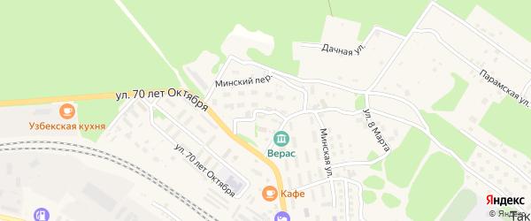 Минский переулок на карте поселка Таксимо с номерами домов