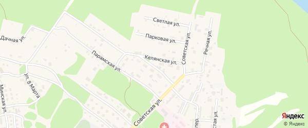 Келянская улица на карте поселка Таксимо с номерами домов
