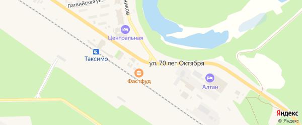 Улица 70 лет Октября на карте поселка Таксимо с номерами домов