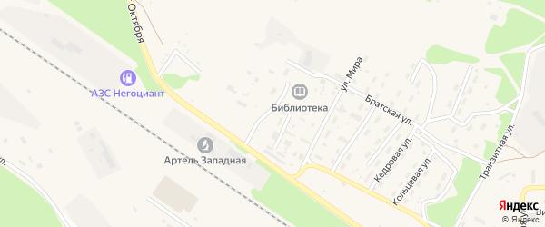 Клубная улица на карте поселка Таксимо с номерами домов