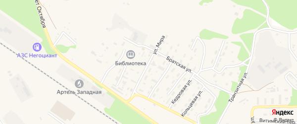 Улица Мира на карте поселка Таксимо с номерами домов