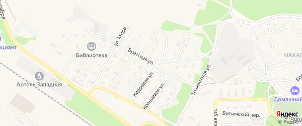 Улица Механизаторов на карте поселка Таксимо с номерами домов
