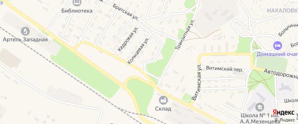 Кольцевая улица на карте поселка Таксимо с номерами домов