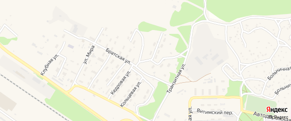 Кедровая улица на карте поселка Таксимо с номерами домов