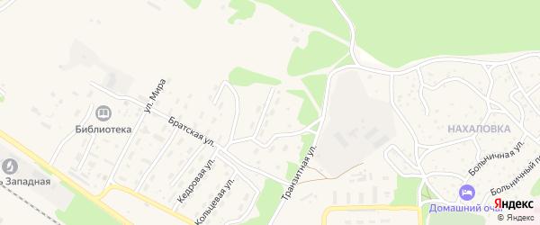 Коммунальная улица на карте поселка Таксимо с номерами домов