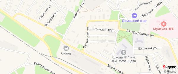 Витимская улица на карте поселка Таксимо с номерами домов