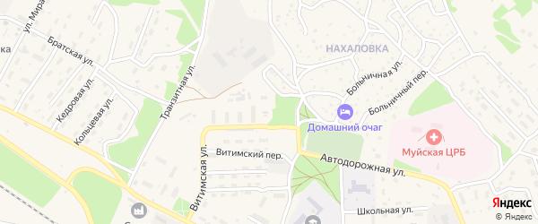 Пролетарская улица на карте поселка Таксимо с номерами домов