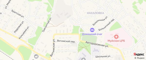 Самарская улица на карте поселка Таксимо с номерами домов