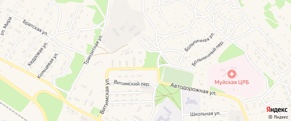 Притрассовый переулок на карте поселка Таксимо с номерами домов