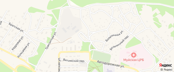 Автодорожный переулок на карте поселка Таксимо с номерами домов