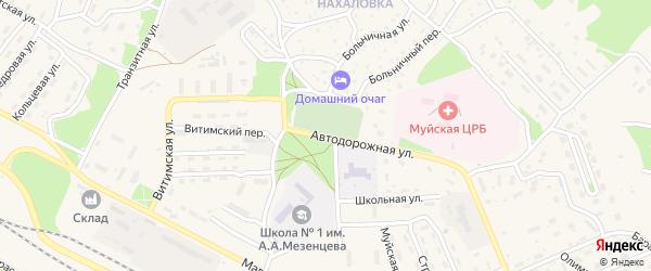 Автодорожная улица на карте поселка Таксимо с номерами домов