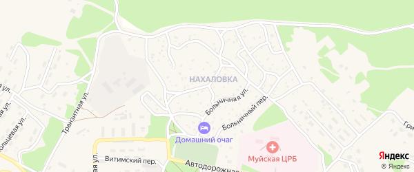 Ольховая улица на карте поселка Таксимо с номерами домов