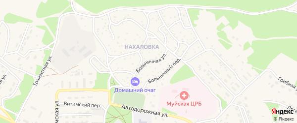 Больничная улица на карте поселка Таксимо с номерами домов