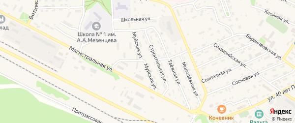 Муйская улица на карте поселка Таксимо с номерами домов