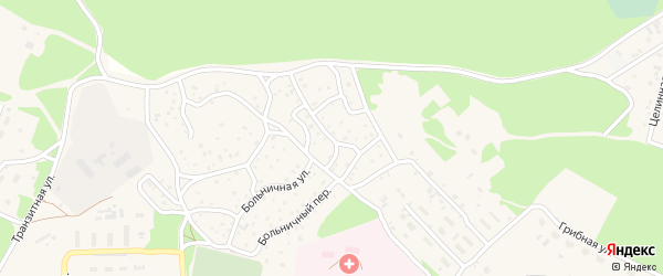 Сибирская улица на карте поселка Таксимо с номерами домов
