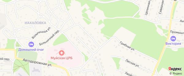Центральный 2-й переулок на карте поселка Таксимо с номерами домов
