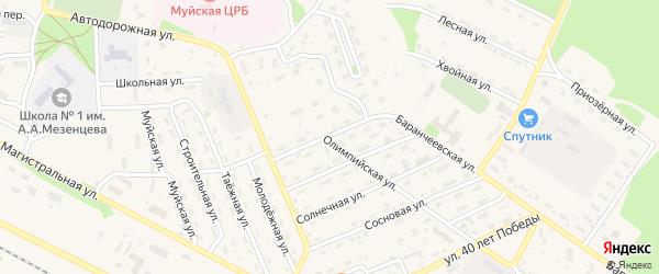 Украинская улица на карте поселка Таксимо с номерами домов