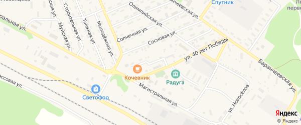Забайкальская улица на карте поселка Таксимо с номерами домов
