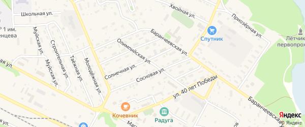 Олимпийская улица на карте поселка Таксимо с номерами домов