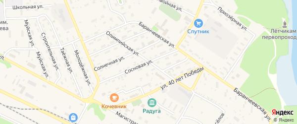 Сосновая улица на карте поселка Таксимо с номерами домов
