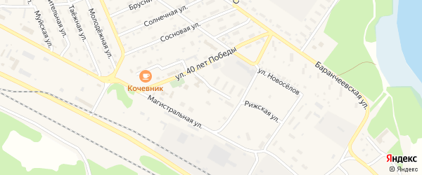 Улица Энтузиастов на карте поселка Таксимо с номерами домов