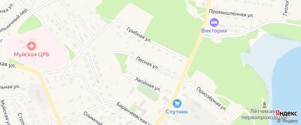 Лесная улица на карте поселка Таксимо с номерами домов