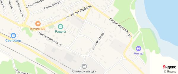 Рижская улица на карте поселка Таксимо с номерами домов