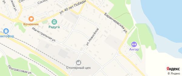 Улица Новоселов на карте поселка Таксимо с номерами домов