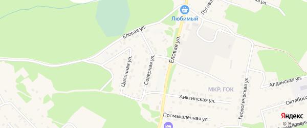 Северная улица на карте поселка Таксимо с номерами домов